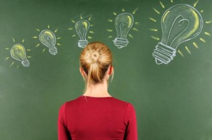 Women with lightbulbs