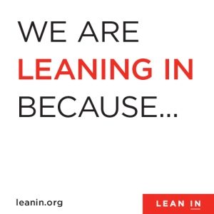 _We are leaning in because   _ White