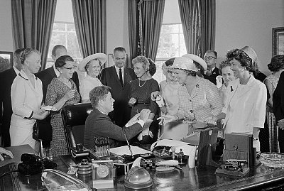 John F Kennedy Celebrating Equal Pay Law